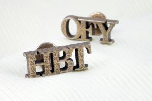 Bespoke initial cufflinks in stainless steel
