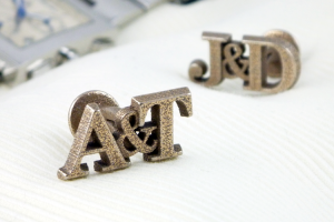 Personalised initial wedding cufflinks