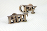 Personalised Steel Initial Cufflinks