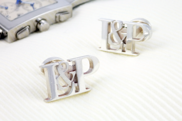 Personalised_initial_wedding_cufflinks_silver