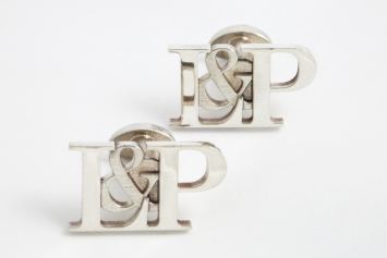 Personalised_initial_wedding_cufflinks_silver_front